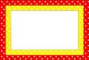 Moldura-Quadro vermelho e amarelo.