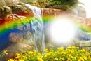 cascada con arco iris