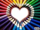 un coeur en couleur