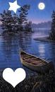 barque en pleine lune