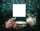 wash basin-pink roses-hdh-1a