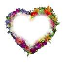 corazon en flores