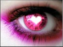 yeux rose