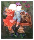 enfants, féérie, champignon 2 photos