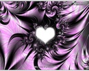 coeur flamme noire et violette