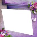 cadre violet fleurie petit coeur