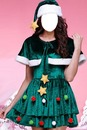 "Christmas Tree Dress ""Face"""