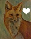 un renard aquarelle peint par Gino GIBILARO