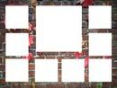 cadre 9 photos - mur de briques