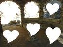 6 fotos corações