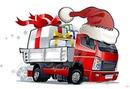 caminhão de presentes de natal