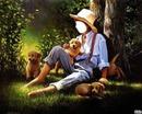l'enfant et les chiens