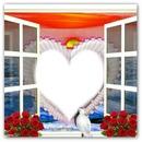 Coeur  fenête