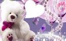 ours blanc et violet 1 photo