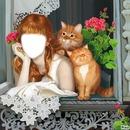 la petite fille et les chats