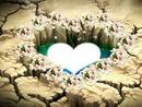 coração no lago