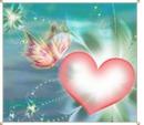 Rp Schmetterling auf Herz
