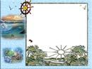 Cadre marin-océan-mer