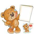Cc oso peluche pintor