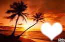 Le coeur du coucher de soleil