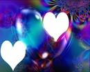 coeurs multicolore 2 photos