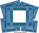 frame bleu