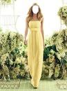 Robe de soirée jaune été