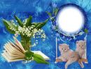 Cadre fleurs & chatons