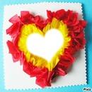 coeur de papier bicolore