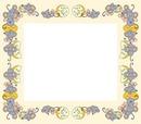 cadre jaune avec souris et gruyère 1 photo