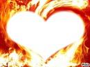 coeur en flame