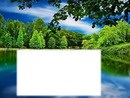 lago y bosque