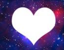 Cadre coeur , fond galaxis !! ;)