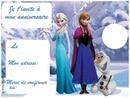 reine des neiges invitation
