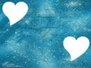 coeur avec fond bleu