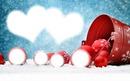 2 herzen und Weihnachtskugeln Rp