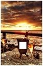 champagne au coucher de soleil