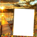 cadre couher de soleil