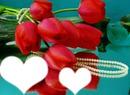 tulips avec 2 coeurs