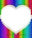 Lapices en forma de corazon
