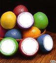 agrumes multicolores