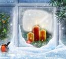 WeihnachtenRp am Fenster