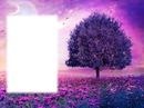 Arbre - paysage violet