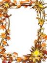 Cadre feuilles d'automne