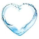 coeur dans l'eau