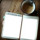libreta con cafe