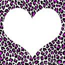 coeur fond leopard
