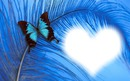papillon coeur bleu