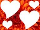 Coeur a fond de fleur