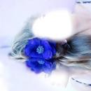 fille fleur